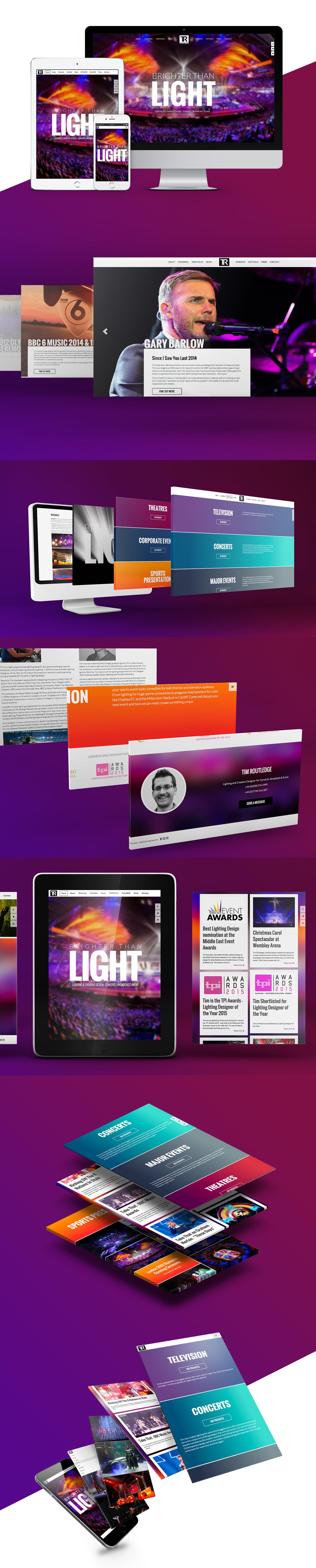 Responsive website design for Tim Routledge's website