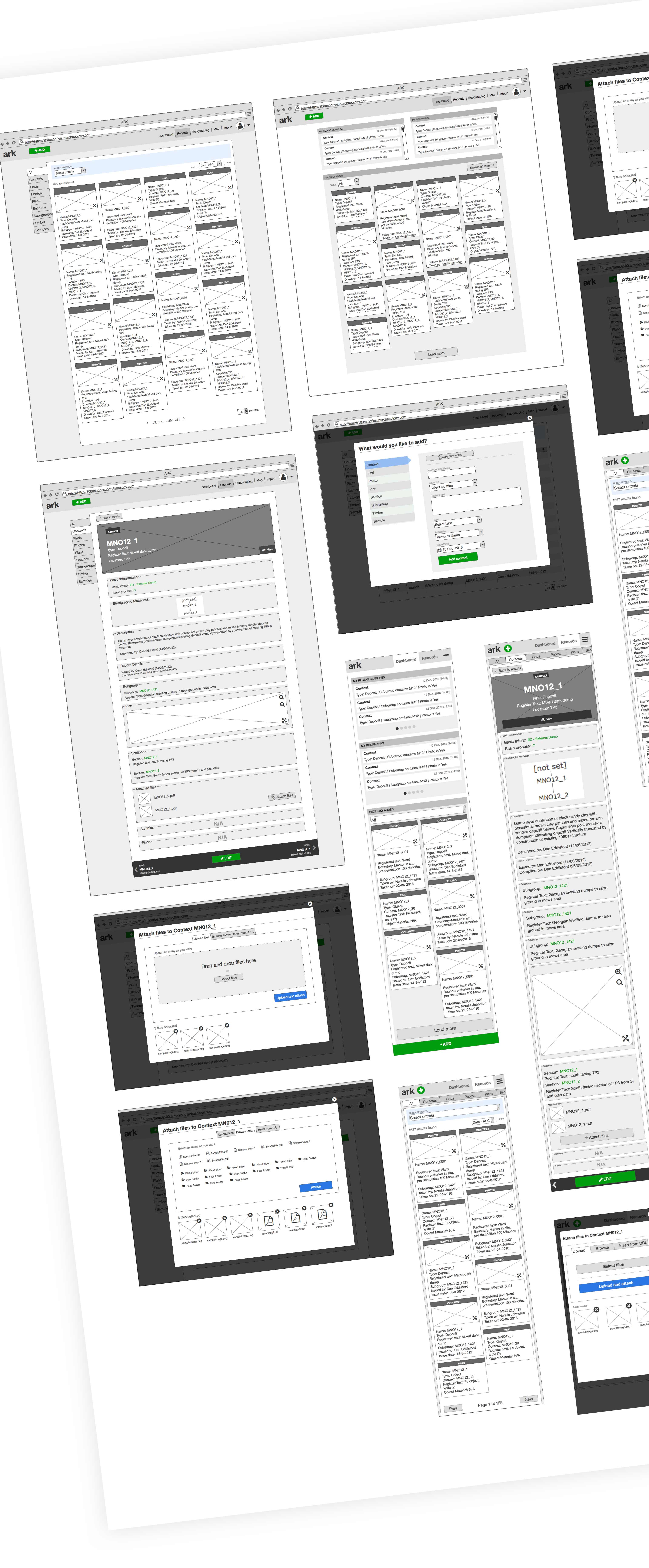 wireframes - UX