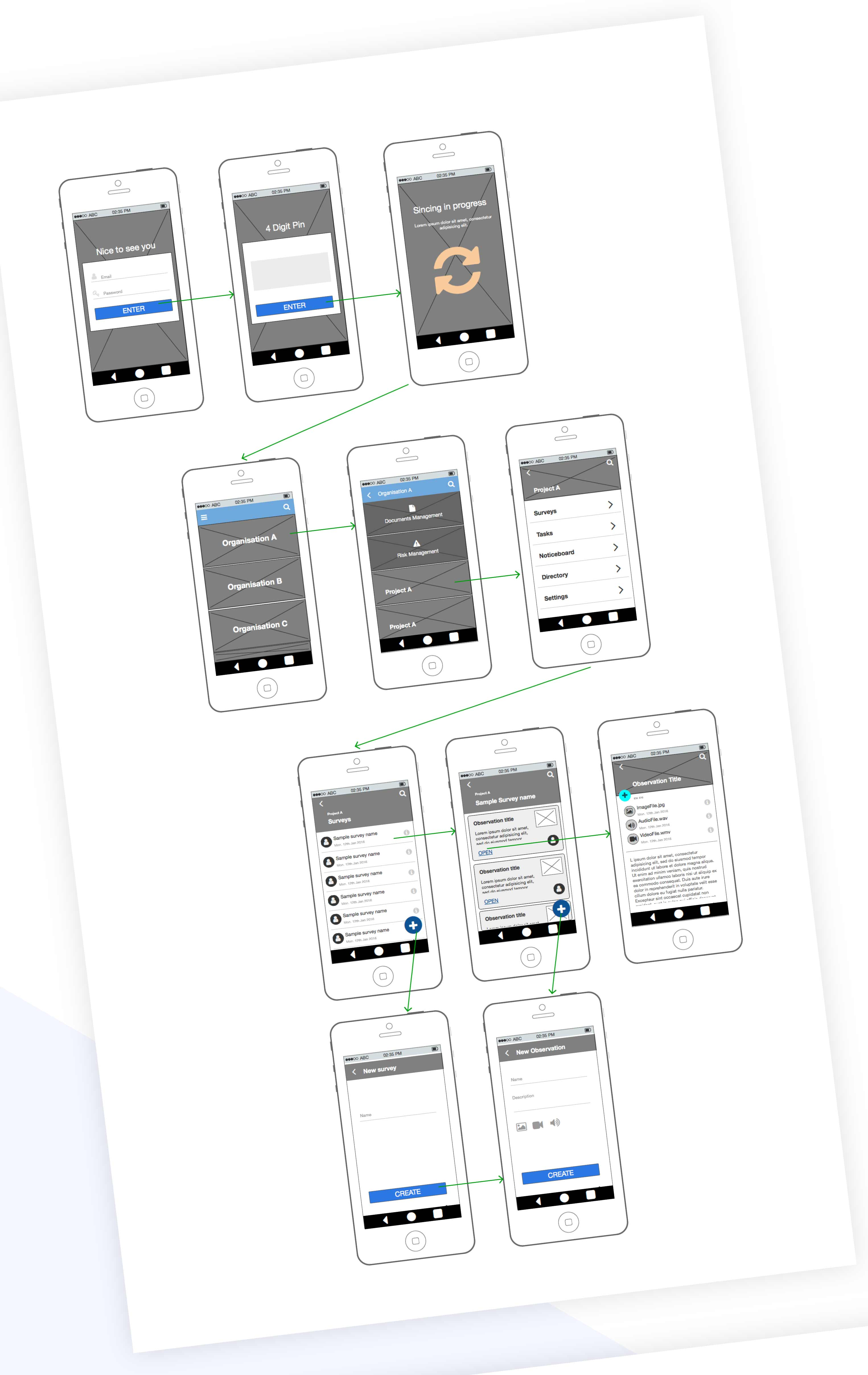 ux wireframes for mobile