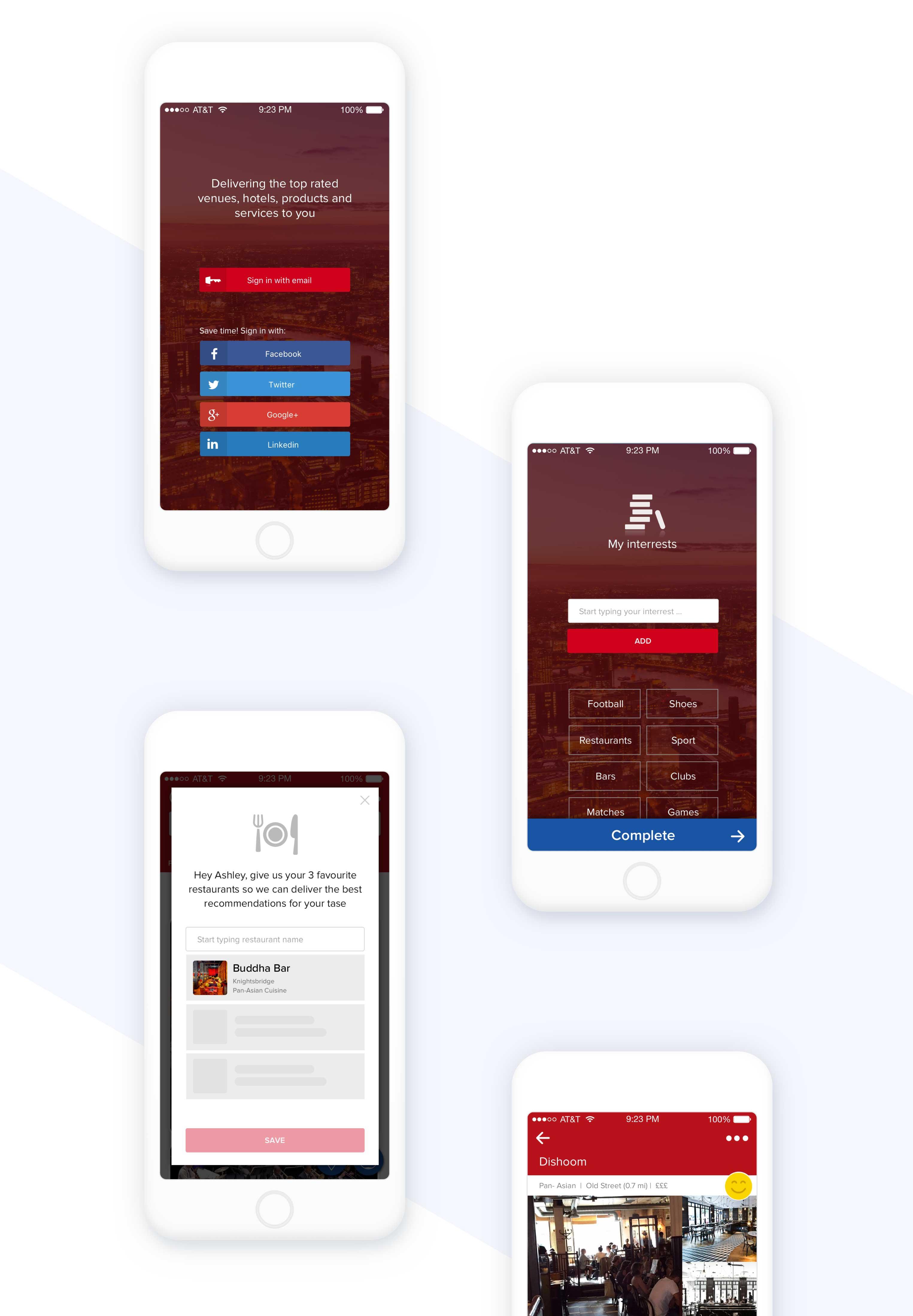 ui mockups for mobile