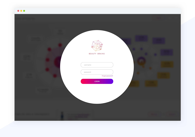 design mockup login